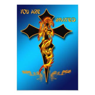 """Dragon - Cross Invitation 5"""" X 7"""" Invitation Card"""