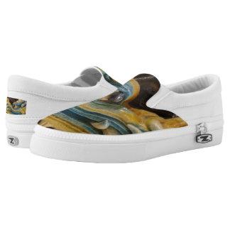 Dragon Custom Zipz Slip On Shoes,  Men & Women