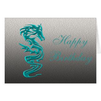 Dragon cyan card