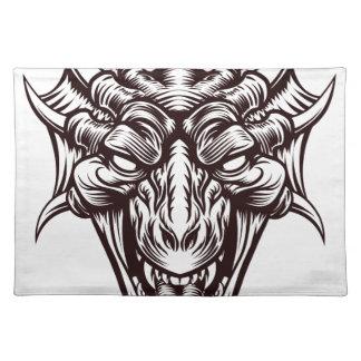 Dragon Demon Monster Head Face Placemat