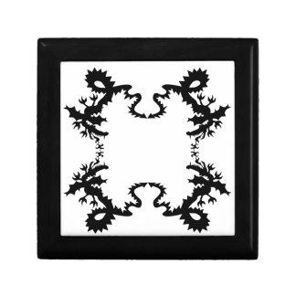Dragon Design Black Small Square Gift Box