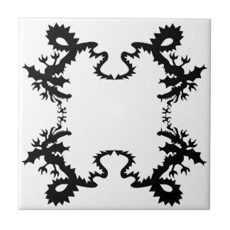 Dragon Design Black Tile