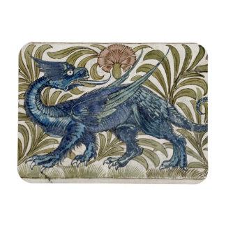 'Dragon' design for a tile (w/c on paper) Magnet