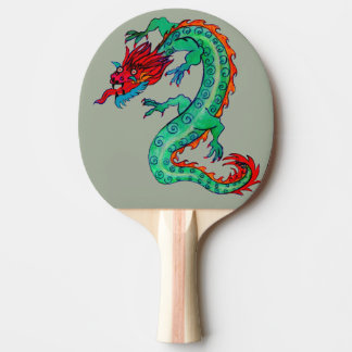 Dragon Design on Ping Pong Paddle