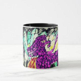 dragon diamond art mug