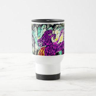 dragon diamond art travel mug