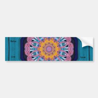 dragon door artwork, Peace, Relax, Love, Live Car Bumper Sticker
