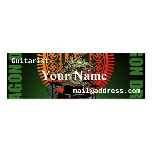 Dragon drum business cards