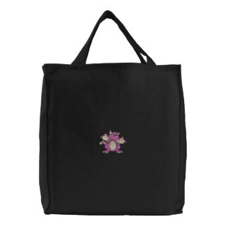 Dragon Embroidered Tote Bags