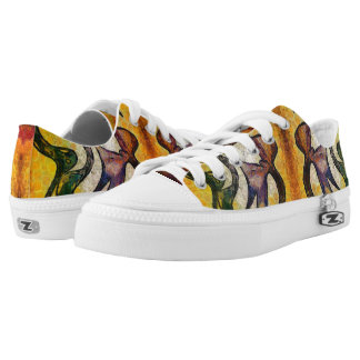 Dragon face low tops