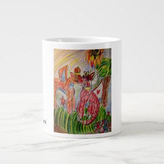 dragon families large coffee mug