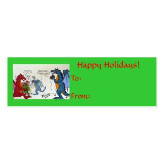 Dragon Family Christmas Video Tag Business Card Templates