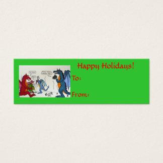 Dragon Family Christmas Video Tag Mini Business Card