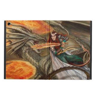 Dragon fighting a Teifling iPad Air Cover