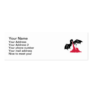 Dragon fire Double-Sided mini business cards (Pack of 20)