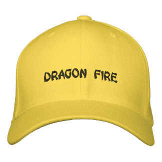 DRAGON FIRE EMBROIDERED BASEBALL CAPS