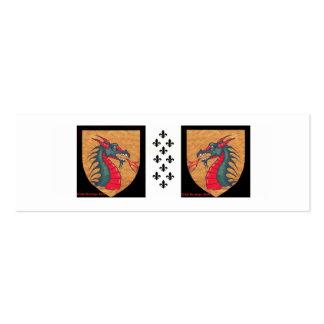 Dragon Fleur de Lis Pack Of Skinny Business Cards