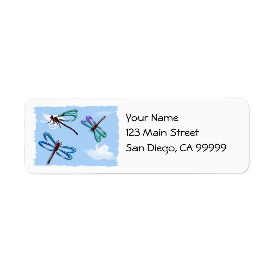 Dragon Flies in the Sky Return Address Label