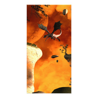 Dragon fly by the flying rocks customized photo card