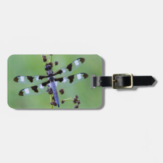 Dragon fly perched on grass, Canada Bag Tag