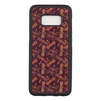 Dragon Fly Samsung Galaxy S8 Slim Cherry Wood Case