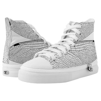 Dragon Fly Wing Funky High Tops Printed Shoes