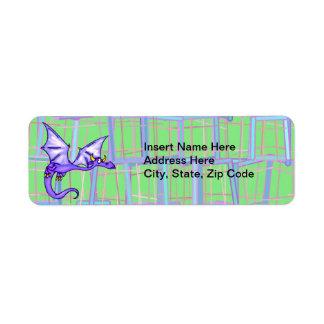 Dragon Flying Return Address Label