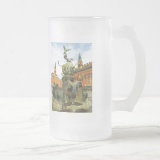 Dragon Fountain in Copenhagen Frosted Glass Beer Mug