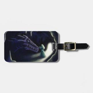 dragon friend fantasy artwork luggage tag
