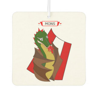 dragon from legend of Mons in Belgium Car Air Freshener