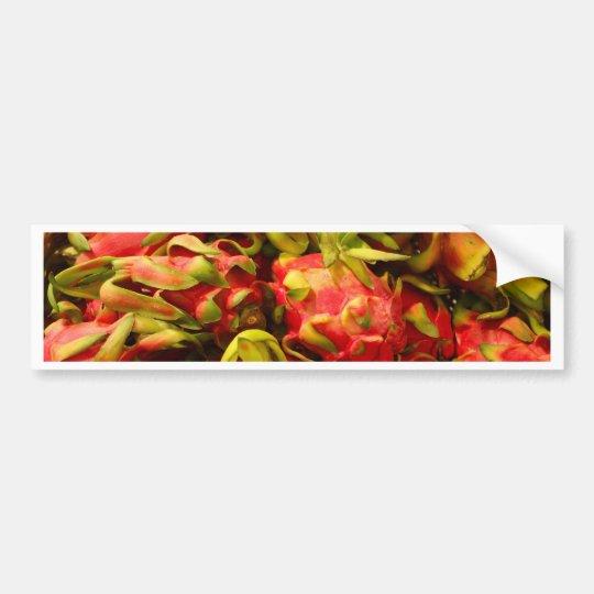 Dragon fruit in a basket bumper sticker