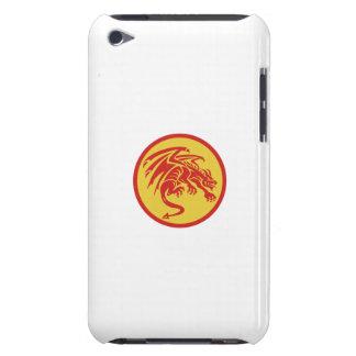 Dragon Gargoyle Crouching Circle Retro Barely There iPod Cases
