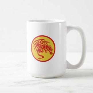 Dragon Gargoyle Crouching Circle Retro Coffee Mug