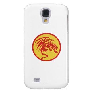 Dragon Gargoyle Crouching Circle Retro Samsung Galaxy S4 Cases