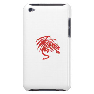 Dragon Gargoyle Crouching Silhouette Retro Barely There iPod Case