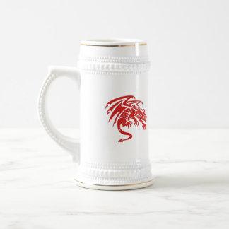 Dragon Gargoyle Crouching Silhouette Retro Beer Stein