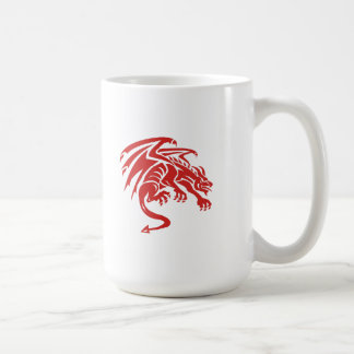 Dragon Gargoyle Crouching Silhouette Retro Coffee Mug