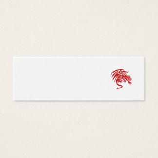 Dragon Gargoyle Crouching Silhouette Retro Mini Business Card