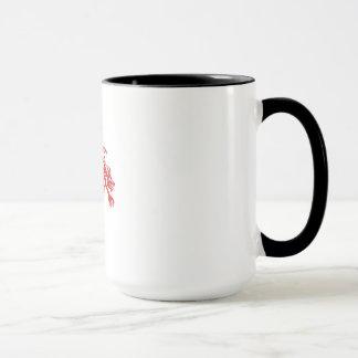 Dragon Gargoyle Crouching Silhouette Retro Mug