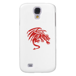 Dragon Gargoyle Crouching Silhouette Retro Samsung Galaxy S4 Covers