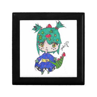 dragon girl edited small square gift box