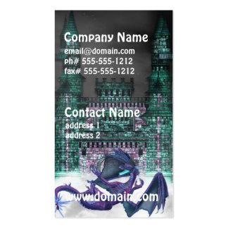 Dragon Guarding Castle Business Cards