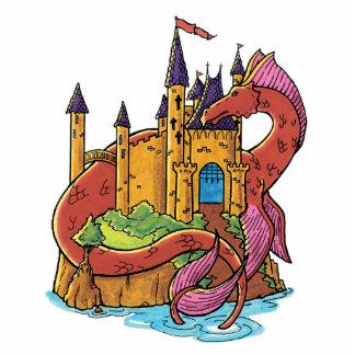 dragon guarding castle cut out