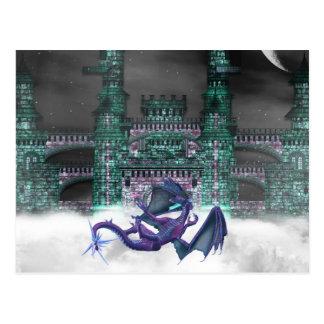Dragon Guarding Castle  Postcard