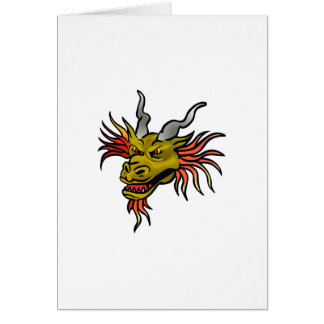 DRAGON HEAD GREETING CARDS
