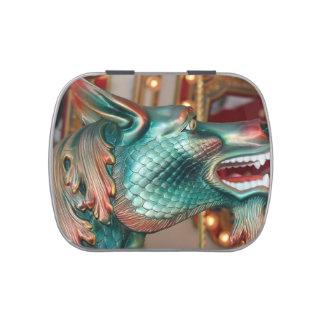 dragon head carousel ride fair image candy tin