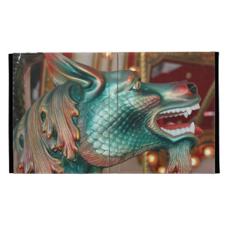 dragon head carousel ride fair image iPad folio cases