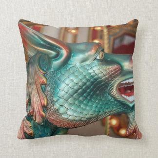 dragon head carousel ride fair image throw cushions