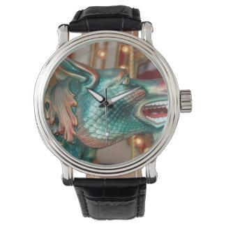 dragon head carousel ride fair image wristwatches