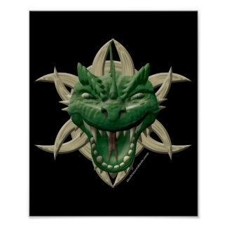 Dragon Head - Green Poster